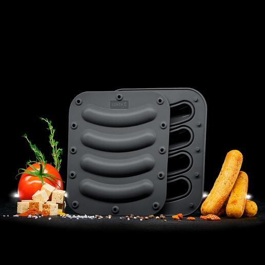 Silicone worstjesvorm, set van 2 Huisgemaakte vegetarische en veganistische worstjes gemaakt volgens uw eigen recepten – makkelijker dan ooit.