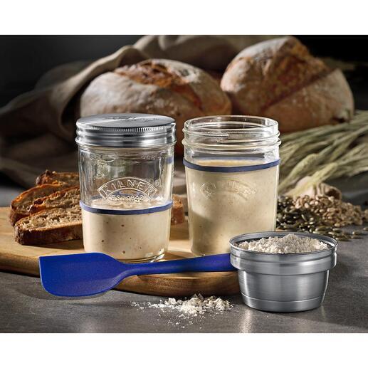 Kilner®zuurdesemmaker Foodtrend zuurdesem: u maakt het nu eenvoudig zelf en fermenteert het tot in perfectie. Van Kilner®, Engeland, specialist in glasproducten sinds 1842.