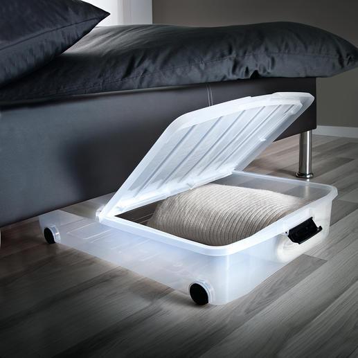 Opbergbox met klapdeksel, set van 2 Onder uw bed is zoveel ruimte.