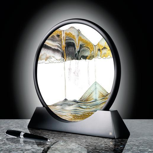 Zandsculptuur - Met oneindig veranderlijk structuurspel. Een blikvanger op uw bureau, in de woon- of slaapkamer.