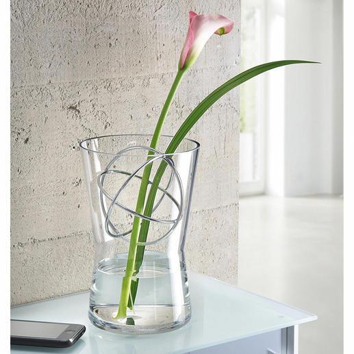 Glazen vaas met decosfeer - Bloemstukken met lange stelen, luxe boeketten etc.: altijd de perfecte vaas.