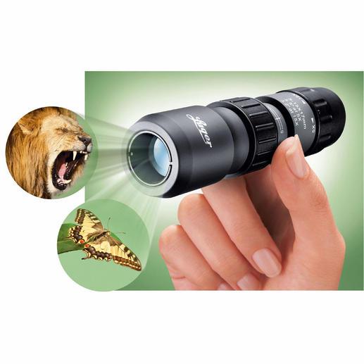 Luger miniverrekijker Een goede verrekijker even handelbaar als een zakmes.