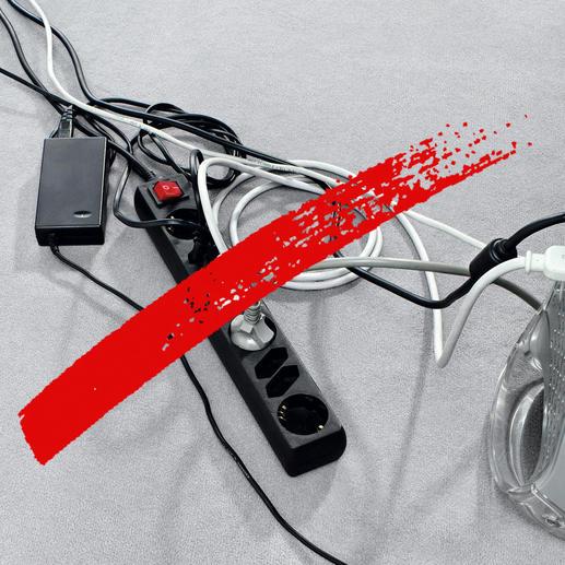 Maak een einde aan de wirwar van kabels en open en bloot liggende stekkerdozen.