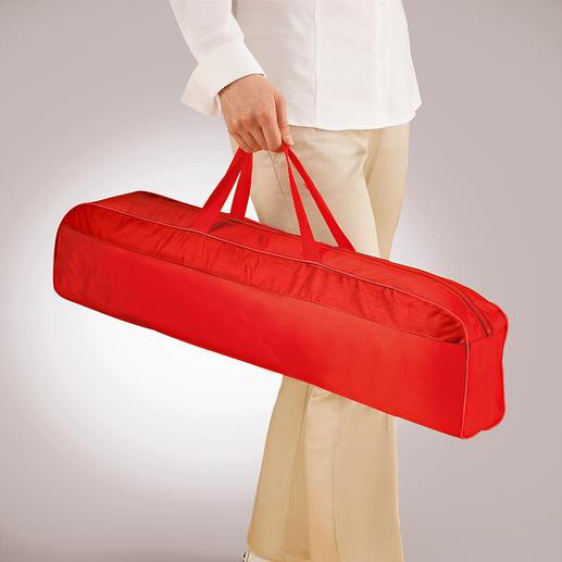 In de bijgeleverde, 66 cm lange draagtas kan het muskietennet comfortabel worden getransporteerd.