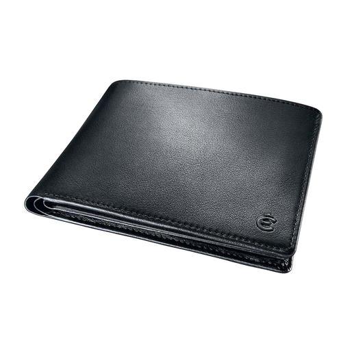 Met slechts 2 cm aangenaam plat zit uw leren beurs in iedere zak comfortabel – zonder op te bollen.