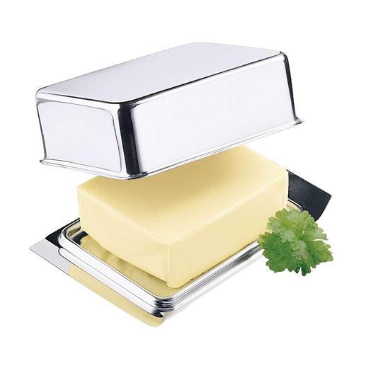 Rvs botervloot Deze RVS botervloot past precies in het botervak van uw koelkast.