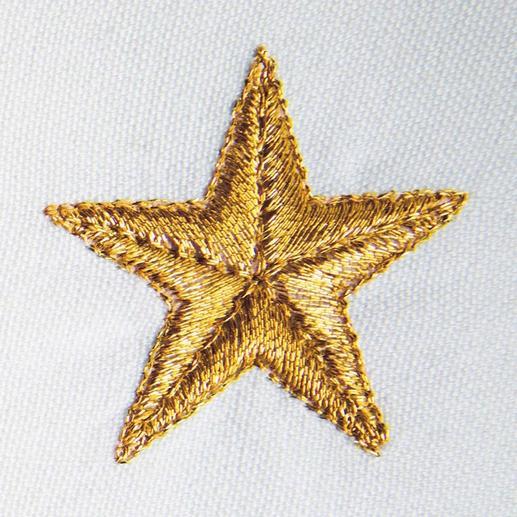Het fijne metallicgaren geeft de goud- of zilver-kleurige sterretjes een  feestelijke glans.