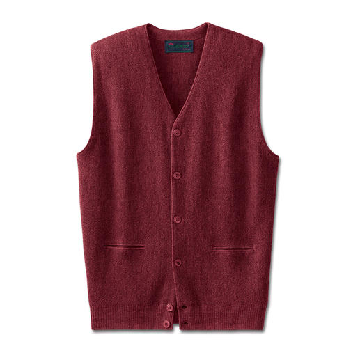 Het vest van dunne Alpaca. Traditioneel afkomstig uit Carbery/Ierland. Een topstuk van de tricotage uit Clonakilty.