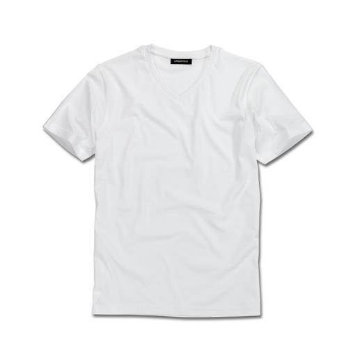 Lagerfeld basic shirt, set van 2 Het ideale basic shirt: puur zwart of wit. Slank belijnd. Van Lagerfeld.