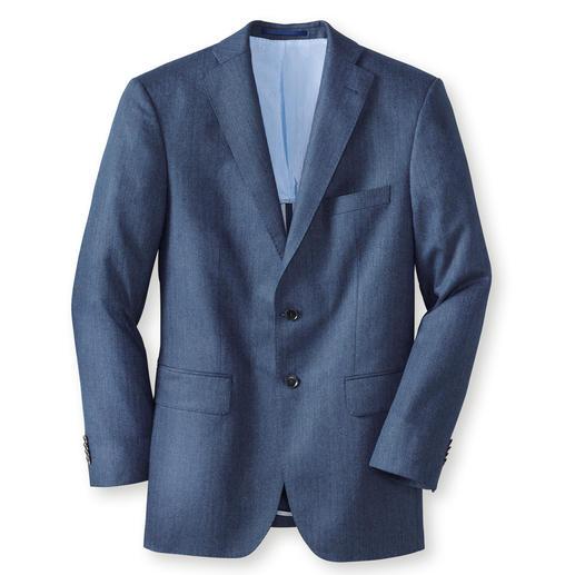 Di Pray zijden colbert in visgraatdessin, blauw Ideaal in de zomer: het jasje van zuiver zijde. De decente kleurstelling past bij elke egale tint.
