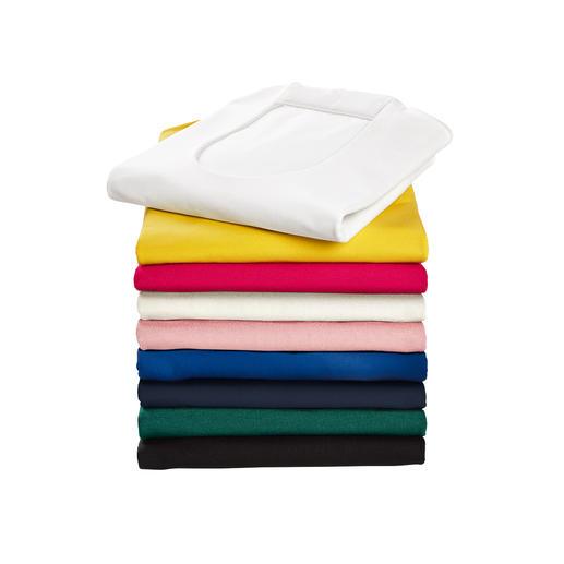Blazer-shirt Dit gemakkelijk schoon te houden shirt vervangt menigmaal uw blouse.