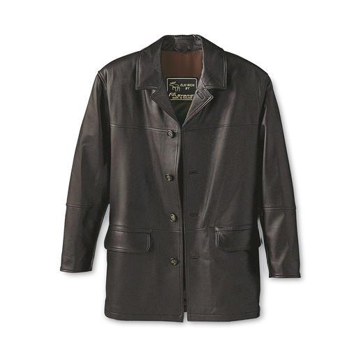 Elandleren jack Tijdloos mooie jas van zeldzaam elandleer. Een bijzonder zacht, uniek exemplaar.