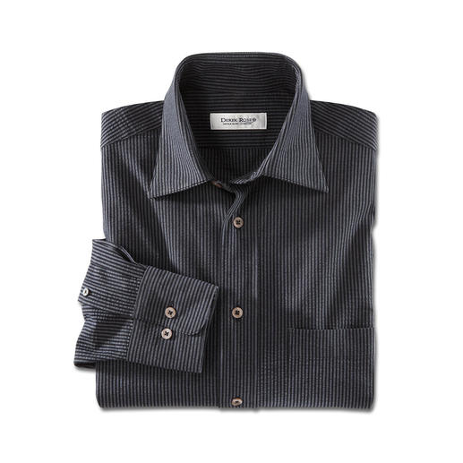 Seersucker-overhemd Seersucker: de koele, ademende stof die minder kreukt. Van DerekRoseofLondon. Strijkvrij.