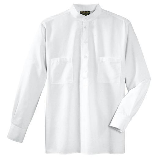 Hollingtons originele overhemd met opstaande boord. Hollingtons originele overhemd met opstaande boord.