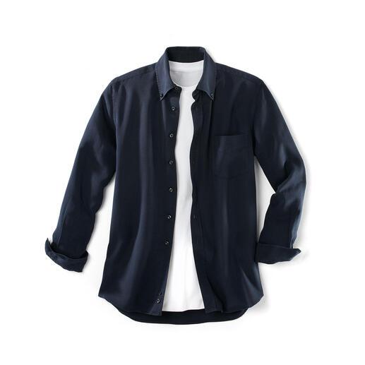 Overhemd van Tencel®-denim Dit 'jeans'-overhemd zult u waarderen op warme en op koude dagen.