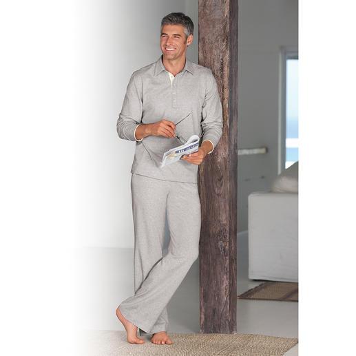 Loungewear-pak, grijs-gemêleerd De stijlvolle loungewear-pak van zacht jersey katoen. Edel, sportief en zeer comfortabel.
