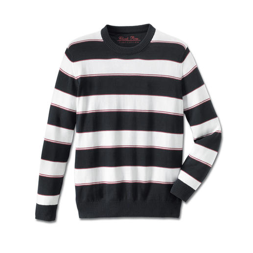 Pima-trui 'Maritime Stripes' Licht, luchtig en streelzacht op de blote huid: trui van zeldzaam Pima-Cotton.