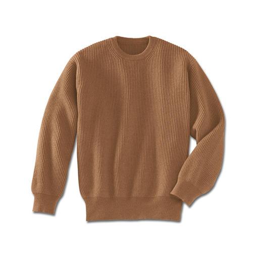 Pullover van kameelhaar De luxe van een echte kameelhaar-pullover.