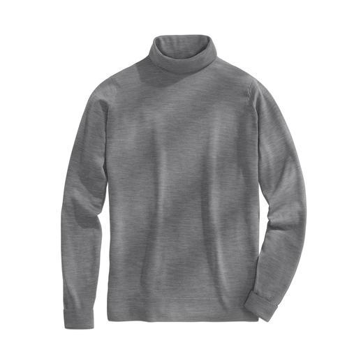 John Smedley coltrui - Deze merino-pullover van John Smedley weegt minder dan 300 gram. En past in iedere aktetas.