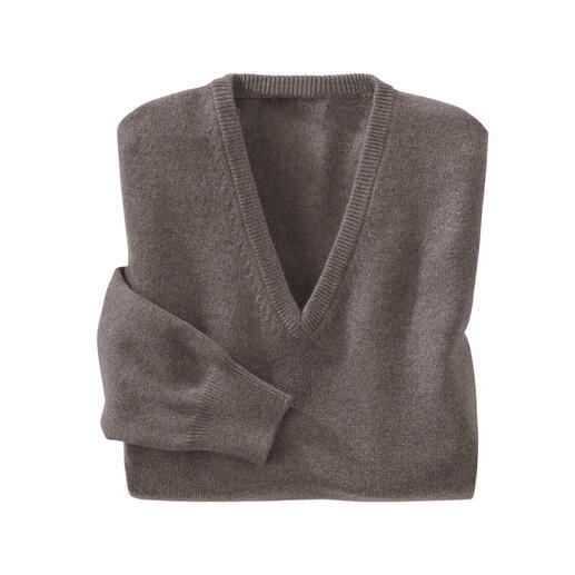 V-hals pullover, taupe