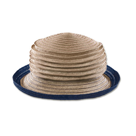 Mayser trekharmonica-hoed Opvouwbaar en ijzersterk: de van genaaide stroken gemaakte harmonicahoed van hennep. Van Mayser.
