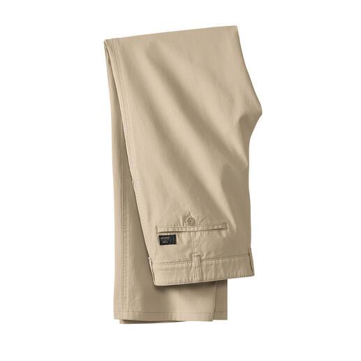 Fijne canvas broek Eleganter en luchtiger dan denim. Maar robuust en ongecompliceerd genoeg. De broek van fijn canvas.