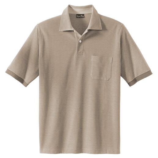 Pima-cotton melange-polo Comfortabel als een polo, voor onder een colbertje net zo geschikt als een overhemd.