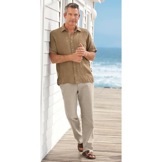 Dorani linnen vintage-overhemd Linnen overhemd in de nieuwste vintage-look. En met het draagcomfort van weleer. Van Dorani.