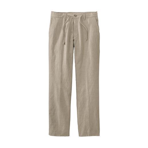 Comfortabele broek met rijgkoord Zo stijlvol kan een comfortabele zomerbroek zijn. In luchtige, frisse mix van katoen en linnen.