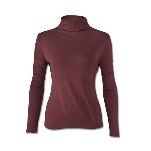 Zijden Tencel®-shirt Verwarmt zonder dik te maken: het perfecte shirt onder slanke blazers en jacks.