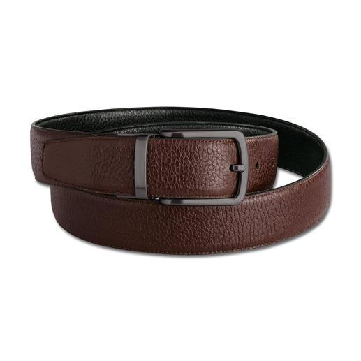 Possum® elastische, keerbare riem De elastische keerbare riem van hertenleer: 5 cm meer comfort. Handmade in Spain.
