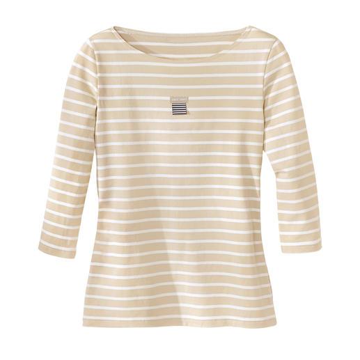 Bretagne-shirt, dames De originele Bretagne-shirts. Visserstraditie sinds de 19e eeuw. Van Saint James/Frankrijk.