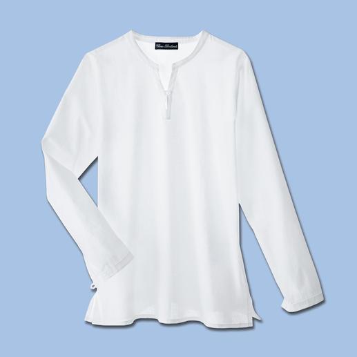 Beachshirt Snel stijlvol gekleed. Het beachshirt van ragfijn katoenen batist.