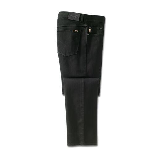 Brax Perma-Black-Jeans Eindelijk een werkelijk kleurbestendige jeans. Zwart blijft zwart. Na iedere wasbeurt.