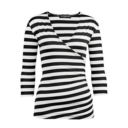 Betoverend Wikkelshirt Een betoverend shirt. Alleen het juiste in zwart en wit.