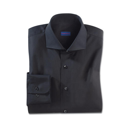 Constant-Colour-overhemd Zwart blijft hier zwart. Ook na vele malen wassen.