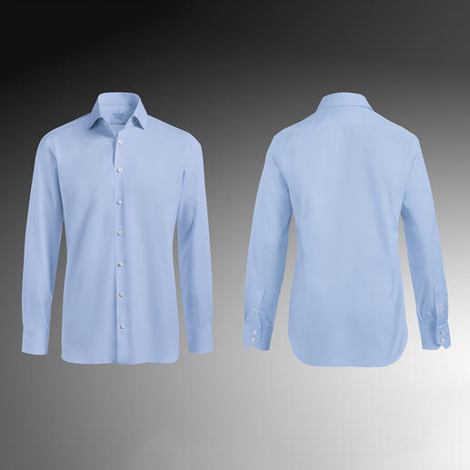 Tailor Fit, 1-knoopsmanchetten, lichtblauw