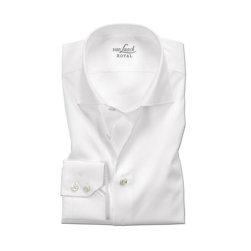 van Laack premium overhemd 'Royal' Tailor Fit of Slim Fit Het beste katoen. Eersteklas afwerking. Gemakkelijk te strijken uitvoering.