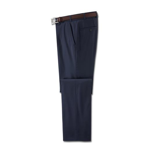 Wasbare scheerwollen broek De ideale businessbroek voor de zomer. Van fijne super 110 scheerwol. Koel, comfortabel en zelfs wasbaar.