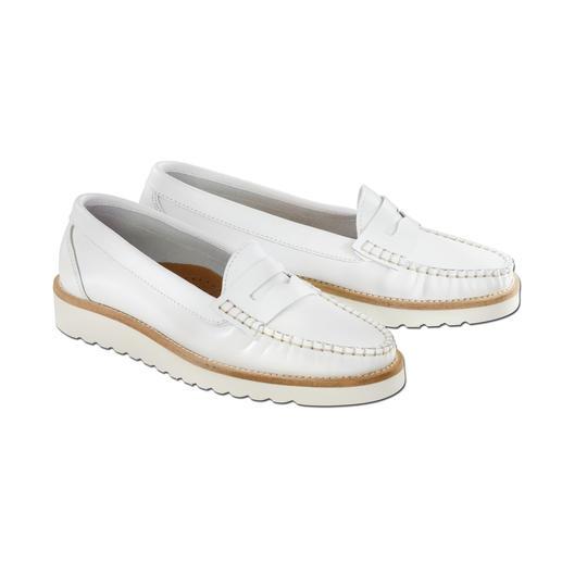 Penny loafer 'softzool' 160 g licht. Ultraflexibel. Schokdempend. Geschikt voor lange wandelingen.