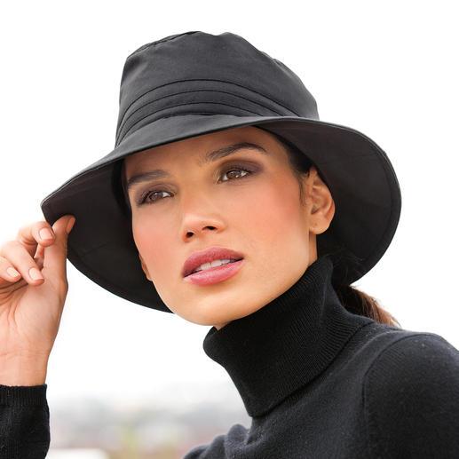 Katoenen hoed voor alle weersomstandigheden Zuiver biologisch katoen. Weerbestendig als een functionele stof. Warm. Wind- en waterafstotend. Ademend.