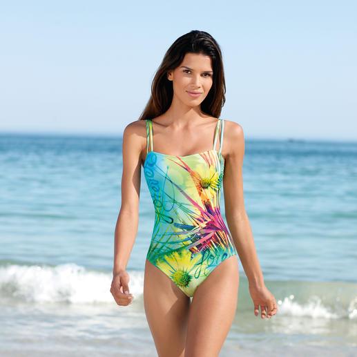 SunSelect®-zwempak 'Bloemenweide' Dit badpak werkt als een goede zonnebrandcrème. Gemaakt van zondoorlatend SunSelect®.
