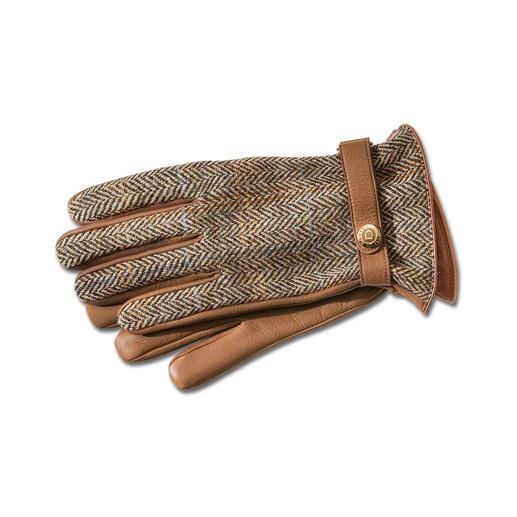 Dents Harris tweed heren- of dames-handschoenen Luxe handschoenen van Dents. Van origineel Harris tweed en zeldzaam hertenleer.