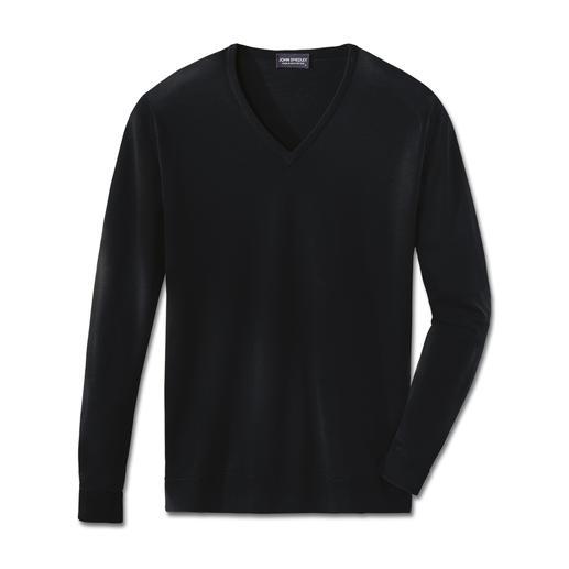 V-pullover, zwart