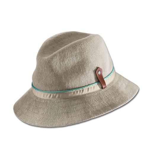 Kangol® gebreide zomerhoed Gebreid in plaats van geweven: luchtiger, zomerser en heel chic.