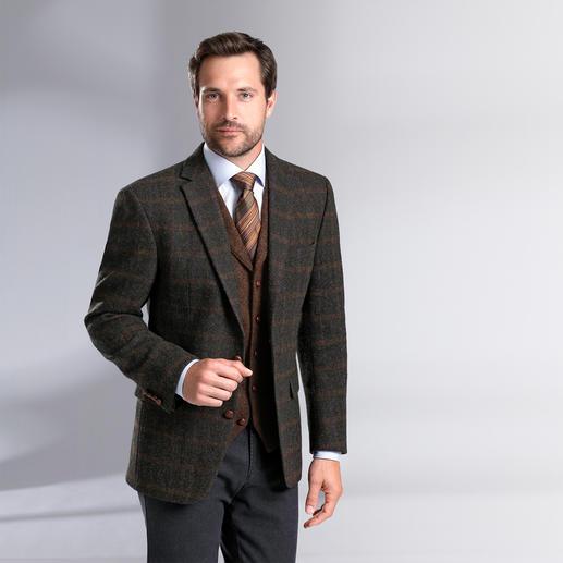 Carl Gross Tweed-colbert of -gilet Originele Harris Tweed van de Buiten-Hebriden – maar veel fijner en lichter dan normaal.