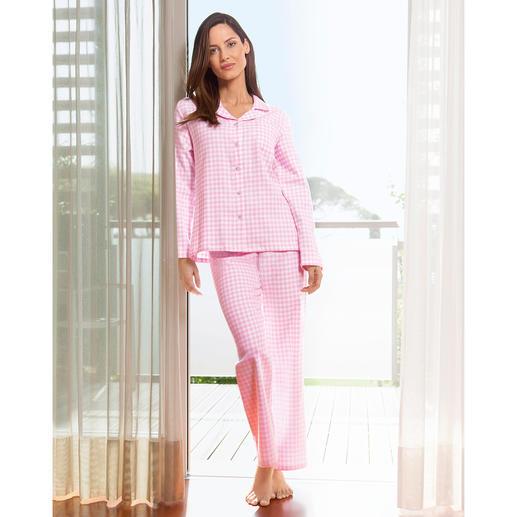 NOVILA flanel-pyjama  'Vichy-ruit' De pyjama voor een eerste goede morgenindruk.