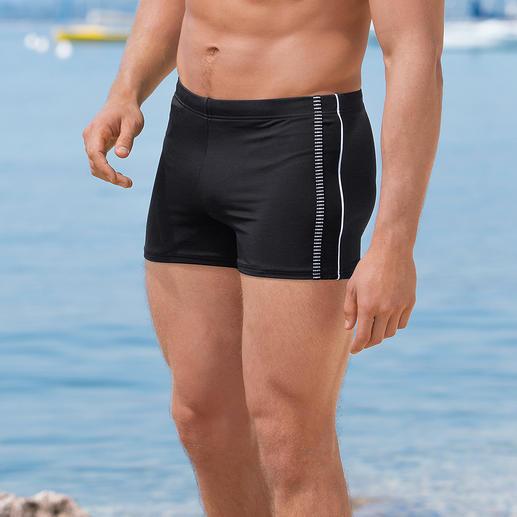 Smalle zwemboxer Smal, mooi en sneldrogend. Zwemboxer voor de sportieve gentleman.