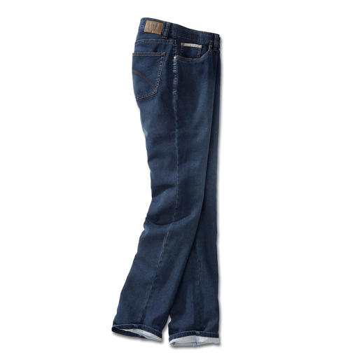24-uurs-jeans Het uiterlijk van een klassieke spijkerbroek en het comfort van een joggingbroek.