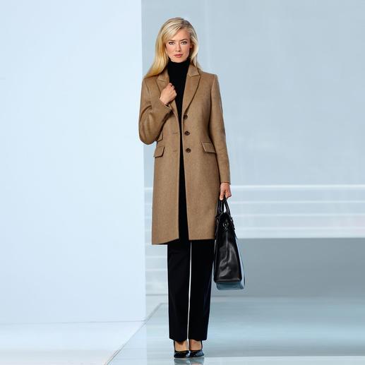 Mantel van kamelenhaar Luxe kamelenhaar. Elegante blazersnit. Veelzijdige kleur. Oneindige toepassingsmogelijkheden.